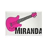 Guitar - Miranda - Pink Rectangle Magnet