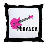 Guitar - Miranda - Pink Throw Pillow