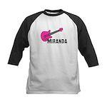 Guitar - Miranda - Pink Kids Baseball Jersey