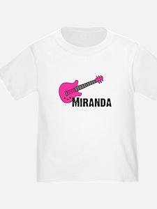 Guitar - Miranda - Pink T