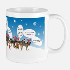 Border Terriers as Reindeer Small Small Mug