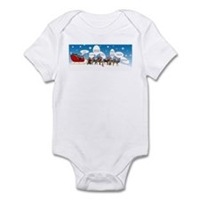 Border Terriers as Reindeer Infant Bodysuit