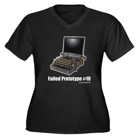 Prototype #10 Women's Plus Size V-Neck Dark T-Shir