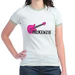 Guitar - McKenzie - Pink Jr. Ringer T-Shirt