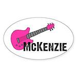 Guitar - McKenzie - Pink Oval Sticker