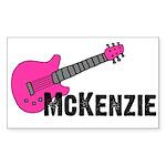 Guitar - McKenzie - Pink Rectangle Sticker