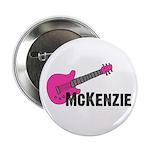 """Guitar - McKenzie - Pink 2.25"""" Button"""