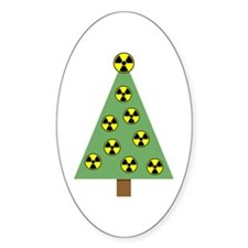 Nuclear Ornaments Oval Decal