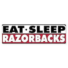 Eat Sleep Razorbacks Bumper Bumper Sticker