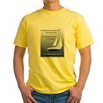 Adjust the sails Yellow T-Shirt