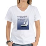 Adjust the sails Women's V-Neck T-Shirt
