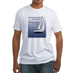 Adjust the sails Fitted T-Shirt