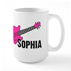 Sophia - Guitar - Pink Mug