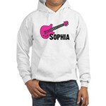 Sophia - Guitar - Pink Hooded Sweatshirt
