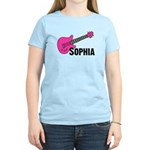 Sophia - Guitar - Pink Women's Light T-Shirt