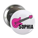 "Sophia - Guitar - Pink 2.25"" Button"