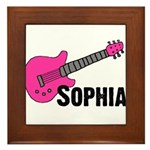Sophia - Guitar - Pink Framed Tile