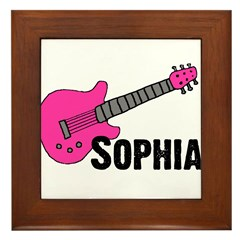 Sophia - Guitar - Pink Framed Tile