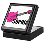 Sophia - Guitar - Pink Keepsake Box