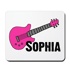 Sophia - Guitar - Pink Mousepad