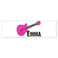 Guitar - Emma - Pink Bumper Bumper Sticker