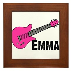 Guitar - Emma - Pink Framed Tile