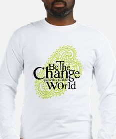 Paisley Green - Be the change Long Sleeve T-Shirt