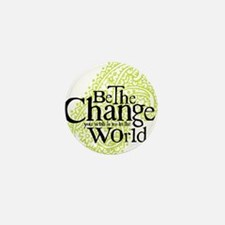 Paisley Green - Be the change Mini Button (10 pack