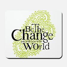 Paisley Green - Be the change Mousepad