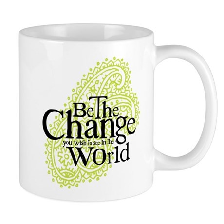 Paisley Green - Be the change Mug