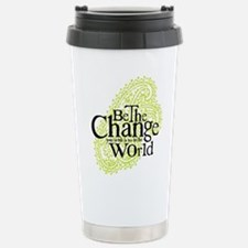 Paisley Green - Be the change Stainless Steel Trav