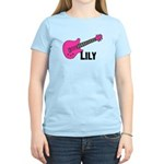 Guitar - Lily - Pink Women's Light T-Shirt