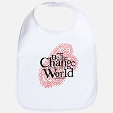 Paisley Pink - Be the change Bib