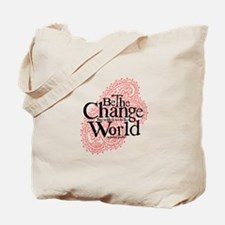 Paisley Pink - Be the change Tote Bag