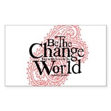 Paisley Pink - Be the change Rectangle Decal