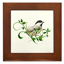 Chickadee Framed Tile