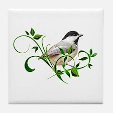 Chickadee Tile Coaster
