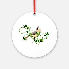 Titmouse Ornament (Round)