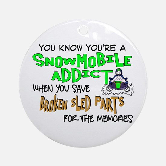 Sled Parts Memories Ornament (Round)
