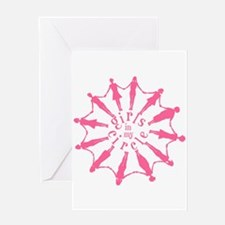 Happiness is a Circle of Friends Greeting Card