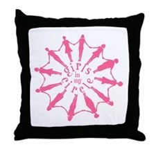 Happiness is a Circle of Friends Throw Pillow