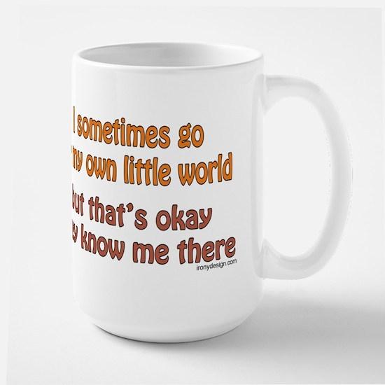 My Own Little World Large Mug