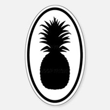 Pineapple Oval Decal