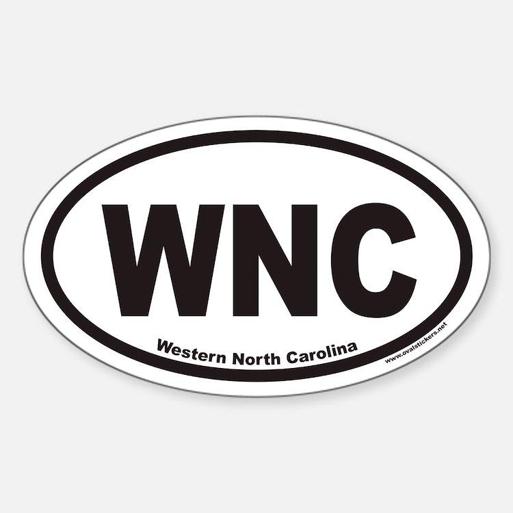 Western North Carolina WNC Euro Oval Decal