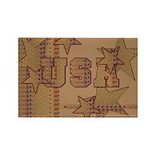 USA Gold Rectangle Magnet