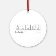 Ni C Ho La S Transparent Ornament (Round)