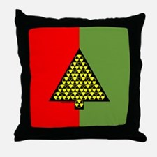 Nuclear Tree Throw Pillow