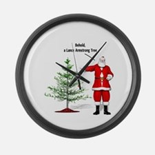 One Ball Xmas Tree Large Wall Clock