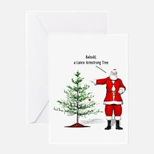 One Ball Xmas Tree Greeting Card