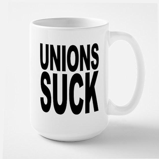 Unions Suck Large Mug